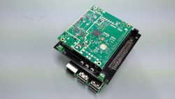 The adapter board with the iC880A concentrator board mounted.
